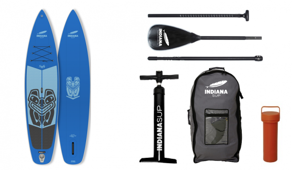 Indiana SUP 10'6 oder 11'6 Family Pack Blue Inflatable Sup Pack with 3-Piece Fibre/Composite Paddle
